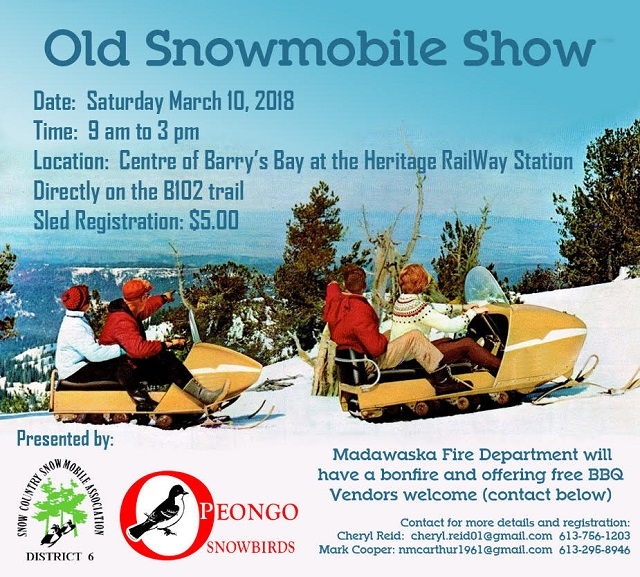 Opeongo Snowbirds bring old snowmobile show to the Valley