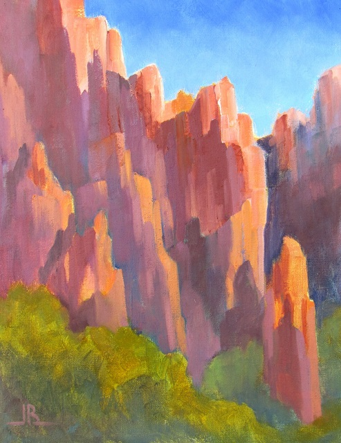 Towering-Red-Rocks-by-Joyce-Burkholder