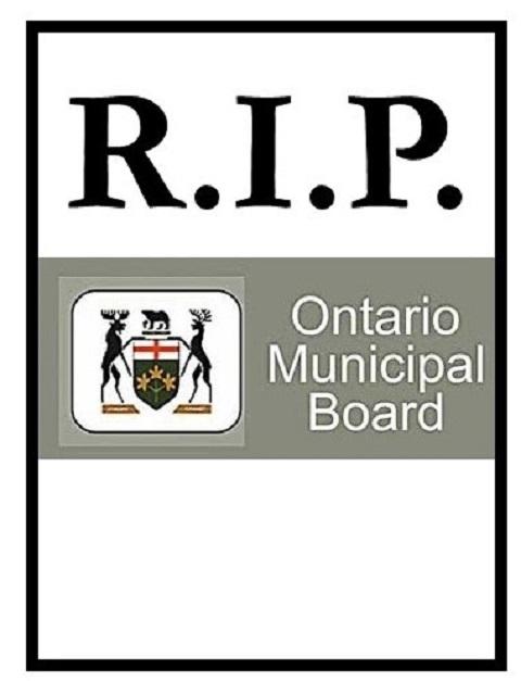 Obituary – the Ontario Municipal Board