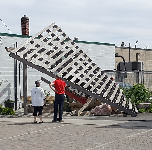 Parking mishap puts paid to pocket park pergola