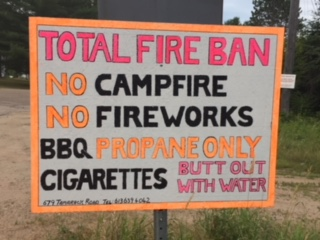 Concerned Valley resident posts own fire ban sign