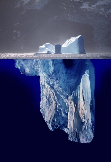 Only the tip of the iceberg