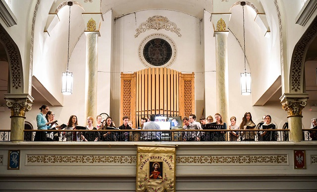 Seat of Wisdom College Ecclesiastical Schola choir performs at St. Hedwig's Parish