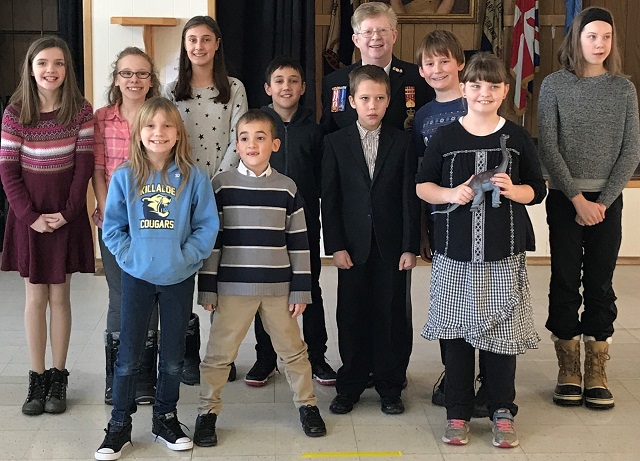 Young speakers at Barry's Bay Legion