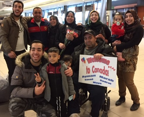 Syrian refugee family now in Canada