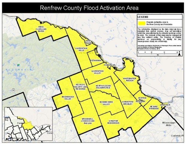 Ontario activates disaster relief for residents of Pembroke and Renfrew County