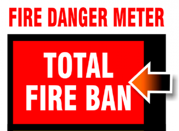 Total Fire Ban still on warns MV Fire Chief