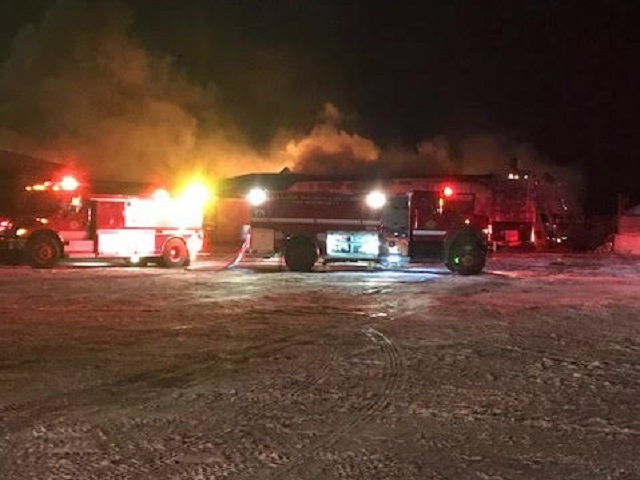 Owner praises firefighters after blaze destroys Hokums chipping plant