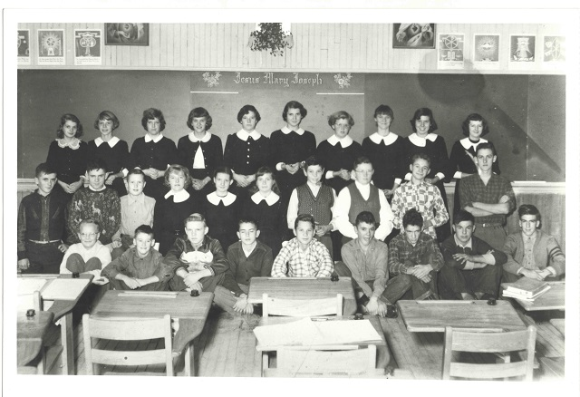 Heritage photo:  Grade 9-10 St. Joseph's Barry's Bay 1952-53