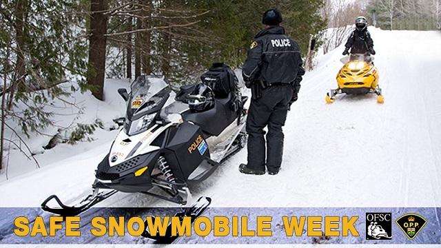 OPP top tips for Snowmobile Safety Week
