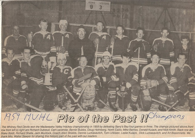Heritage Photo: Whitney Red Devils 1959 Champions