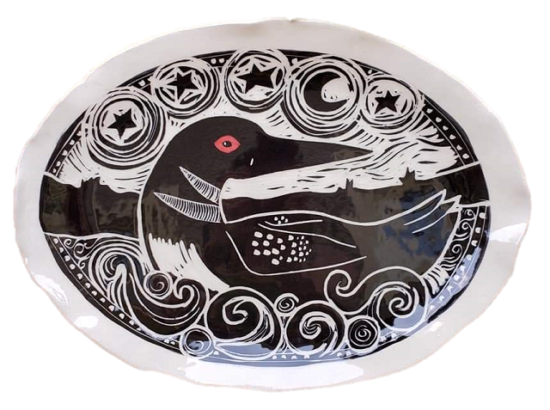 loon-plate-karen-gray