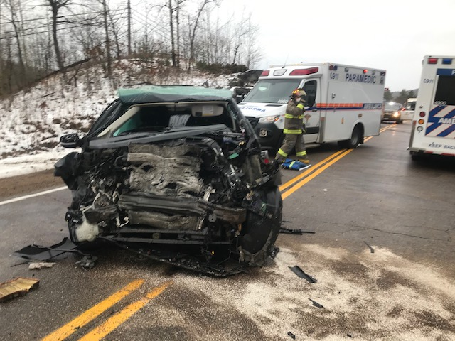 Charge laid following head-on collision