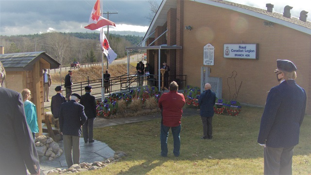Remembrance Day observed at Barry's Bay Legion